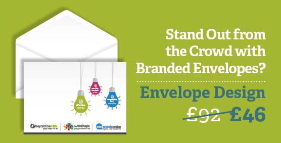 Branded envelope design just £46
