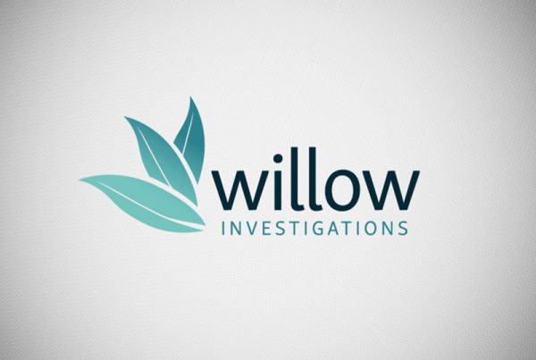 logo design for willow investigations in northampton